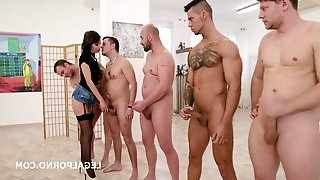 Gangbang Sexually Attractive Lady DAP Hardcore Porn Video