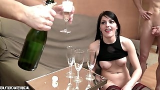 French Porn - Orgie et champagne - doggie style