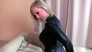 CaraCum - ebony Leather sundress