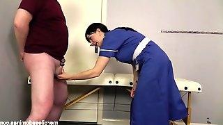 Doctor visit painful kicks by merciless nurse jessica wood