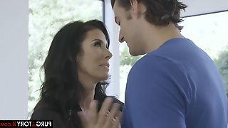 Seductive housewife, Jay Smooth got down and dirty with her step- daughters boyfriend, just for fun