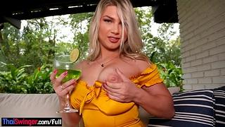Large clitoris latina amateur blonde named Sense Antunes fucked in the ass