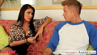 Timid young guy is fucked steadfast off out of one's mind voluptuous friend's mam Jessica Jaymes