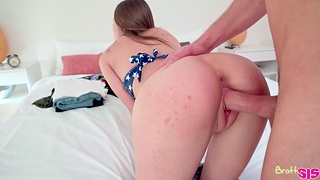 The way she sits on all four and takes the cock is insanely hot