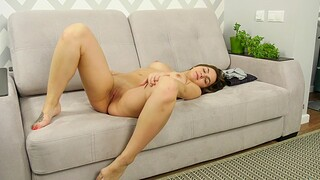 Closeup homemade video of hot ass Jeniffer playing with a toy