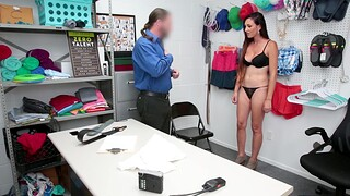 Quickie fucking in the office with shy cougar Artemisia Love