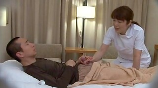 Ebullient fucking on the bed wide a sincere tits Japanese mature