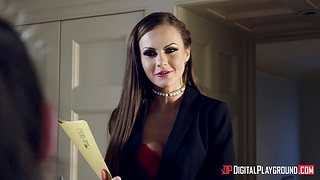 Two frowardness watering babes Kimmy Granger and Tina Kay make love in the bathtub