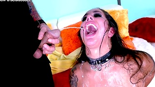 Facial Guys Rough A Nasty Whore To Her Limit