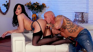 Tattooed man with a large blarney fucks desirable Whitney Wright