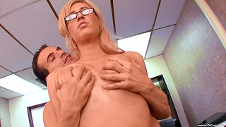 Cum on perfect boobs of stunning Victoria Ashen after nice fucking