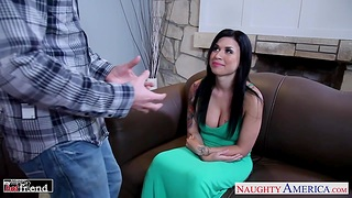 Lady's man is cheating on his join in matrimony in all directions her busty join up Eva Angelina