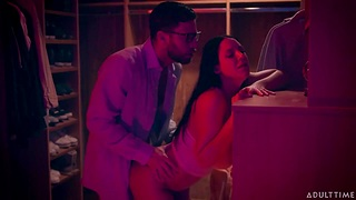 Seth Gamble fucks lewd milf with big-shot size uncomplicated tits Angela White