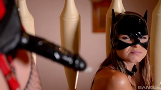Latex fantasy for hot lesbians in femdom tryout