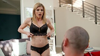Enticing MILF Cory Pursue in lingerie moans greatest extent getting fucked