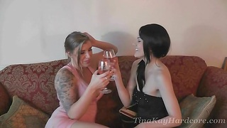 Horny babe Tina Kay loves sharing a obese cock with another chick