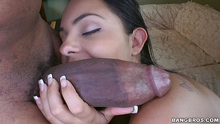 Interracial fucking with selected delivery girl Angelina Stoli