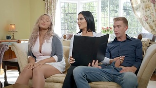 British milf Jasmine Jae gives say no to head and takes huge cock in sopping scrumptious slit
