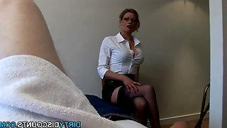 Penis slapping domina jizz