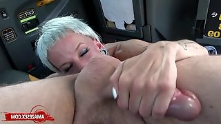 Skinny MILF Rimming In The Car