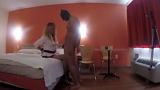 Sexy crossdresser bound and foot fucked by dom BBC